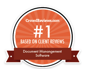 No. 1 document management on CrowdReviews