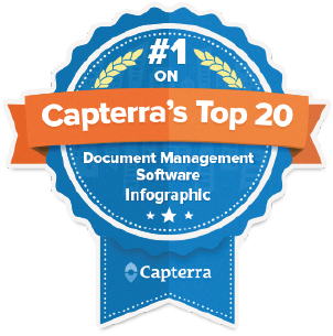 #1 on Capterra's top 20 Document Management Software
