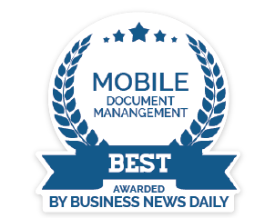 Best mobile document management award
