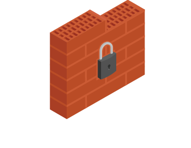 Facilitate compliance and ensure security isometric icon