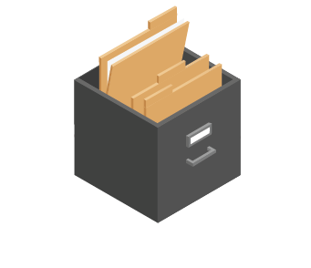 Consistent file structure isometric icon