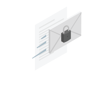 Securely share files of any size isometric icon