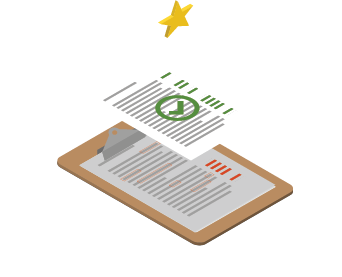 Fast track document turnaround isometric icon